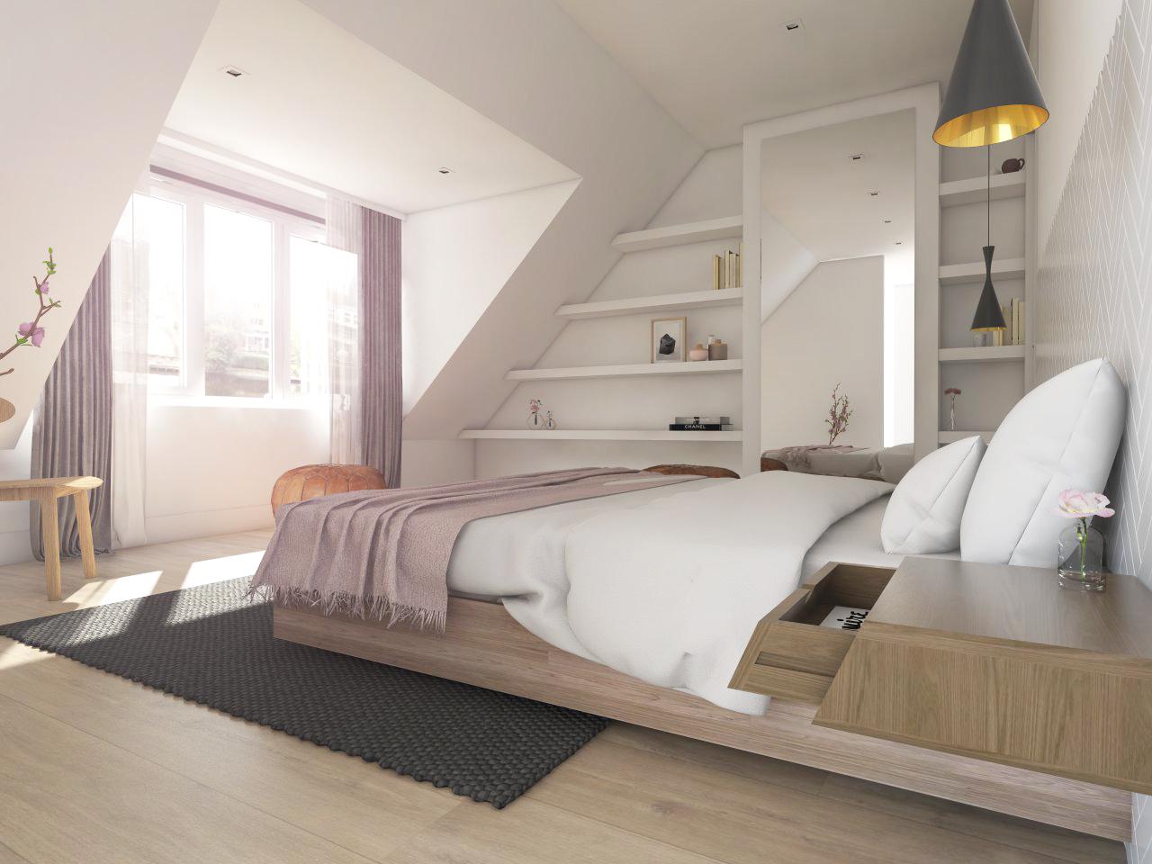 3e verdieping - Slaapkamer